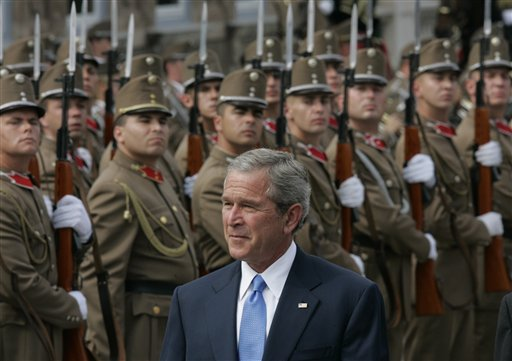 Bush & troops